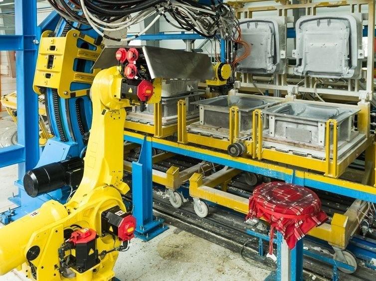 泡沫生产机器人
