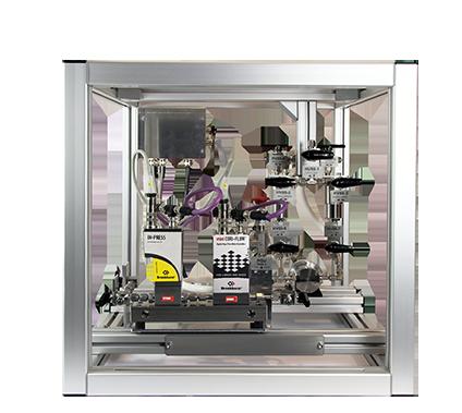 科里奥利质量流量计组合齿轮泵和压力传感器的撬块方案